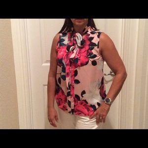 Beautiful flower blouse.